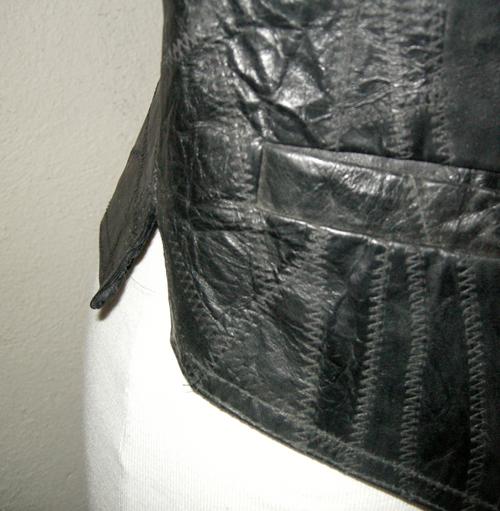 black leather vest small unisex-remix vintage fashion