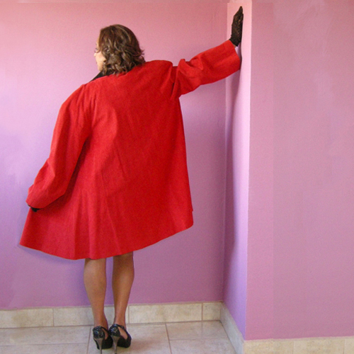 red swing coat stanley sherman i magnin 80s-the remix vintage fashion