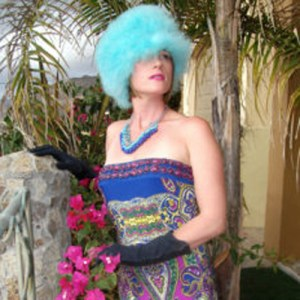 70s paisley strapless poly gown-the remix vintage fashion