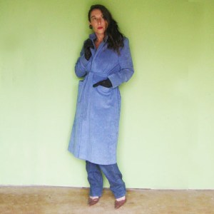 ultrasuede coat 70s wrap blue-the remix vintage fashion