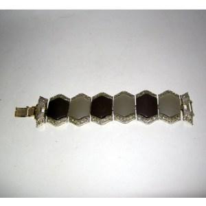 coro bracelet thermoset moonstone-the remix vintage fashion