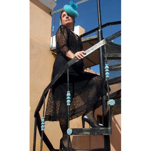 40s lace dress art deco-the remix vintage fashion