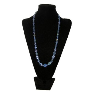 blue crystal necklace-the remix vintage fashion