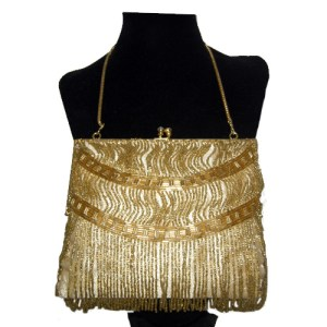 walborg gold 80s purse-the remix vintage fashion