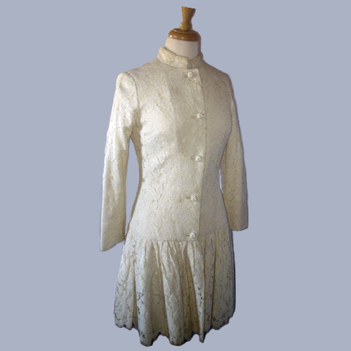 60s Anita Mode mod lace coat-the remix vintage fashion