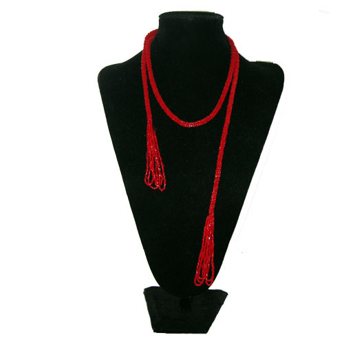 red flapper lariat-the remix vintage fashion