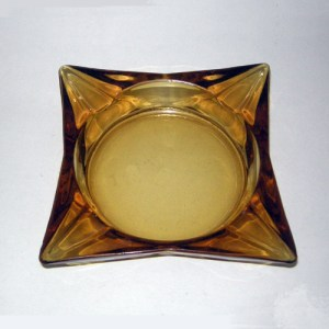60s ashtray square glass-the remix vintage fashion
