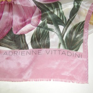 adrienne vittadini silk scarf pink floral-the remix vintage fashion