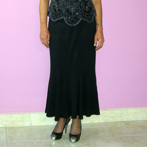 st johns skirt Nordstrom black wool rayon trumpet flare-the remix vintage fashion