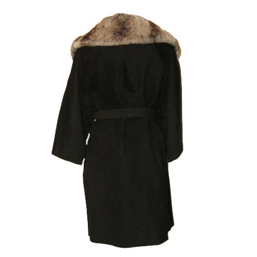 suede swing coat fur collar rex rabbit 60s mod-the remix vintage fashion