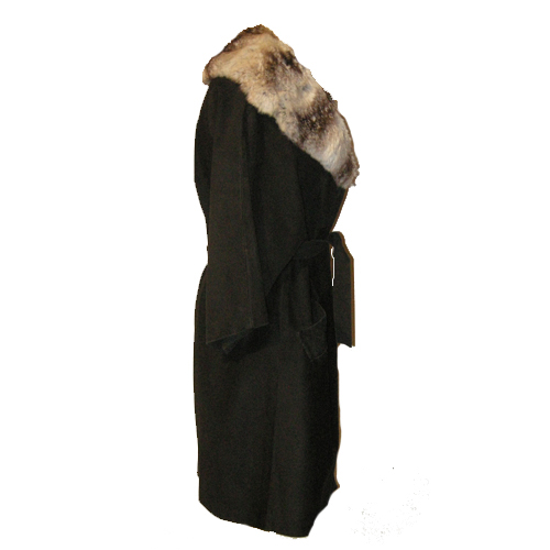 suede swing coat fur collar rex rabbit 60s mod-the remix vintage fashion
