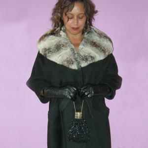 suedce swing coat fur collar rex rabbit 60s mod-the remix vintage fashion