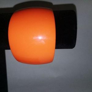 orange lucite bangle wide bracelet-the remix vintage fashion