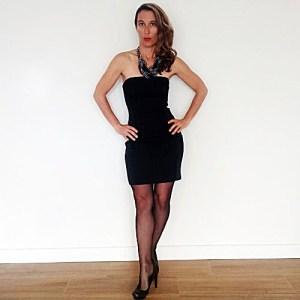 little black dress ann taylor strapless mini petite-the remix vintage fashion