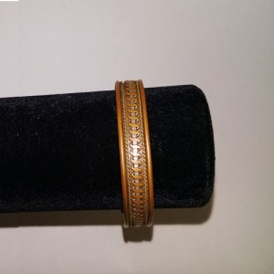 70s copper bracelet scroll cuff boho hippy-the remix vintage fashion