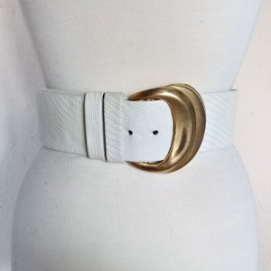 pearl belt wide leather gold buckle 80s-the remix vintage fashion