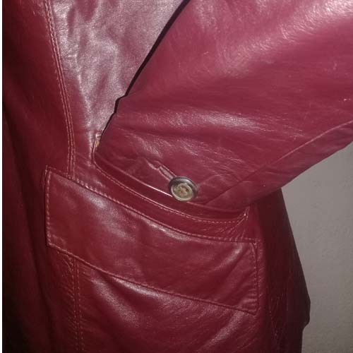 70s Aignier leather jacket oxblood size 12-the remix vintage fashion