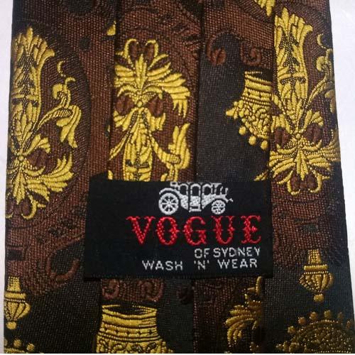 80s tie Vogue Australia crest emblem-the remix vintage fashion