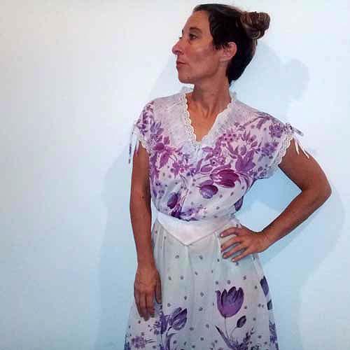 70s peasant dress jc penney polyester-the remix vintage fashion