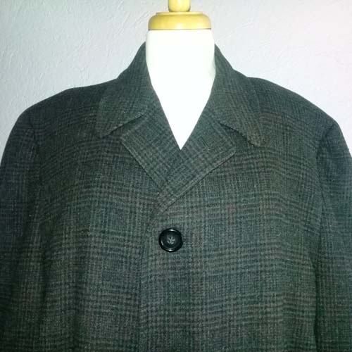 mens overcoat wool trench 60s-the remix vintage fashion