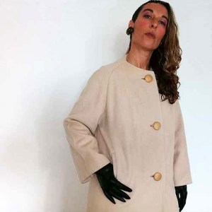 50s cashmere coat cream tan satin lining-the remix vintage fashion