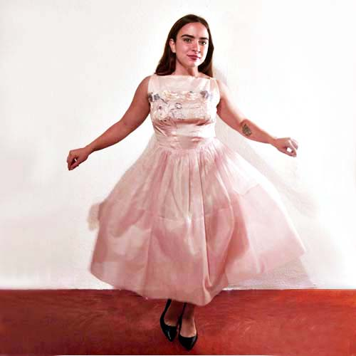 50s organza dress pink party prom-the remix vintage fashion