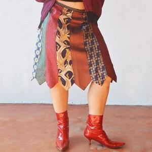 necktie skirt boho hippy-the remix vintage fashion