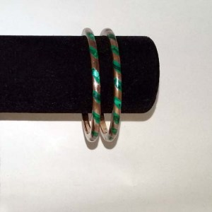 Brass Turquoise Bangle Bracelets-the remix vintage fashion