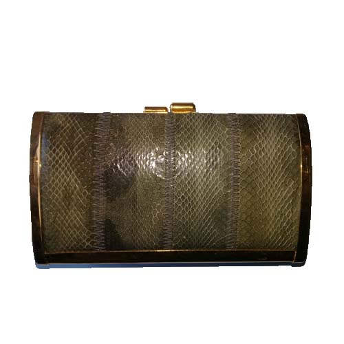 Clemente Eelskin Clutch Bag-the remix vintage fashion