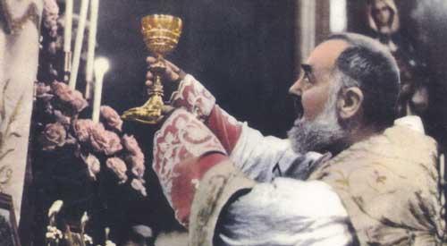 A única missa celebrada por Pe. Pio.