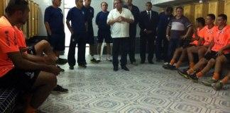 Sérgio Cabeça recepciona os novos jogadores e comissão técnica remista