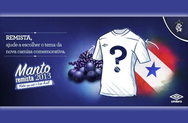 Escolha o modelo da camisa comemorativa do Remo pelo Facebook