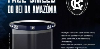 Face Shield do Rei da Amazônia