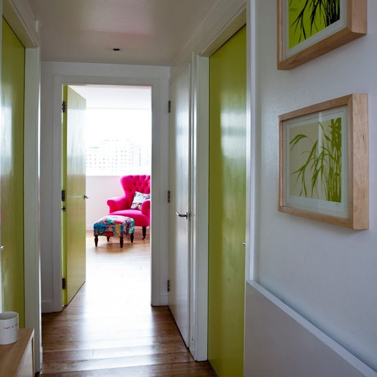 paint the door & 15 Ways To Decorate A Hallway | Remodelaholic