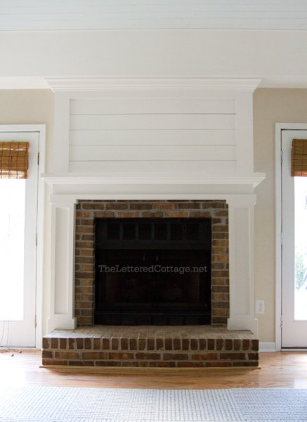 Brick Fireplace Makeover