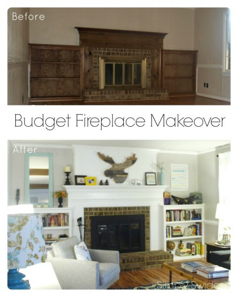 Top Remodelaholic | 25 Best DIY Fireplace Makeovers QB42