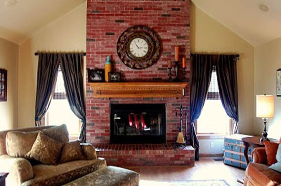 Brick Fireplace Revamp