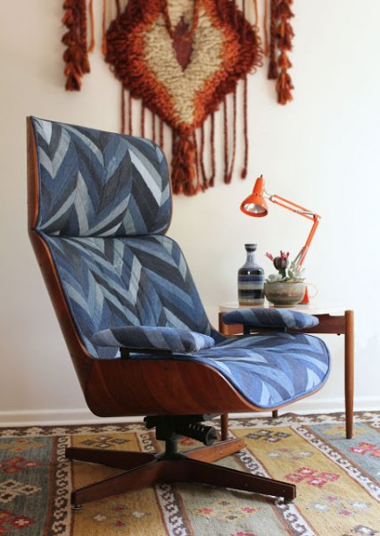 Denim Chevron Chair