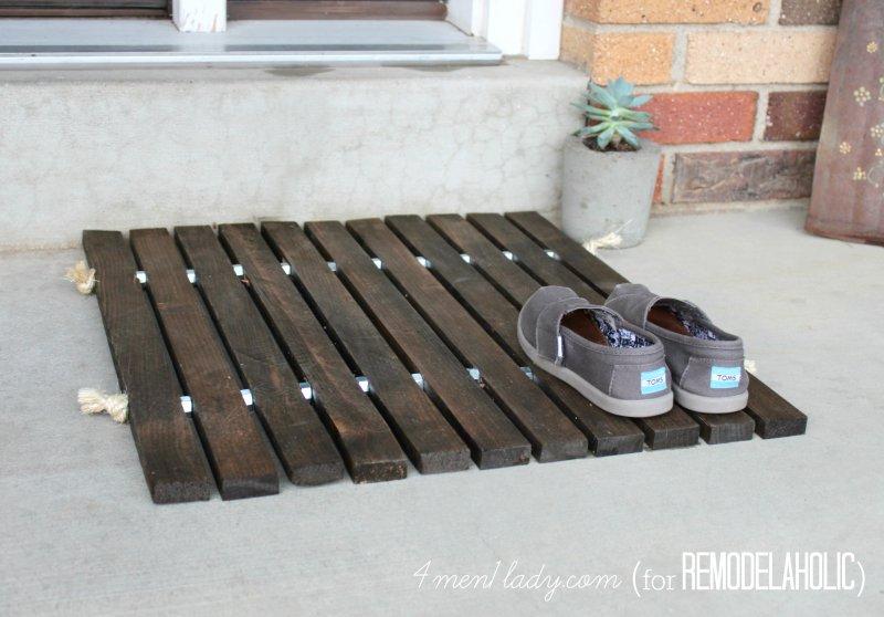 Wood Stake Doormat