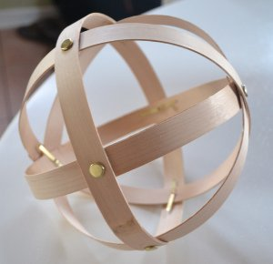 Wood Veneer Sphere