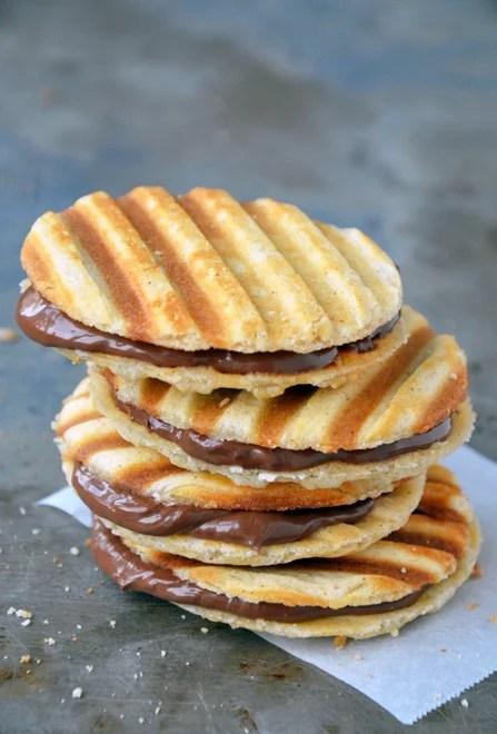 Nutella Waffle Sandwich Cookies