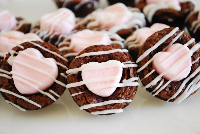 Chocolate Marshmallow Brownie Bites