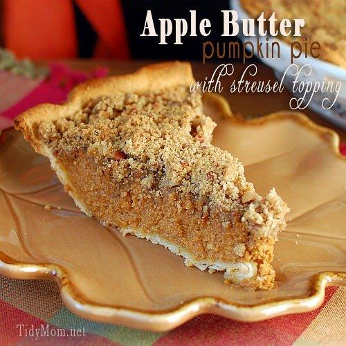 Apple Buttern Pumpkin Pie