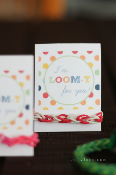 I'm LOOM-y for you valentines card