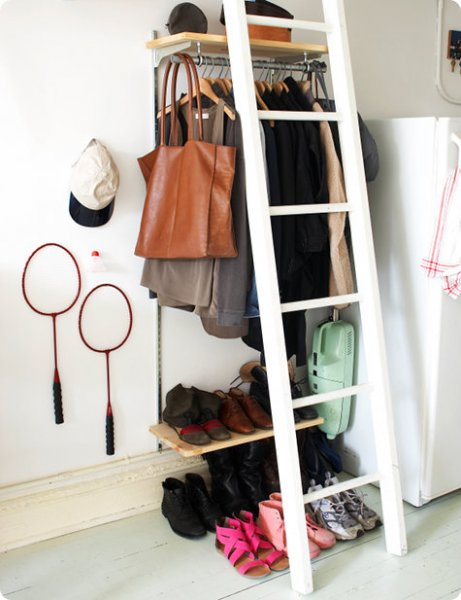 Wall track system closet