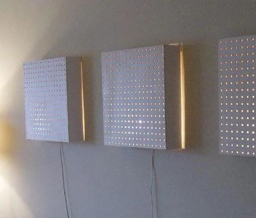 Pegboard Wall Light Fixture