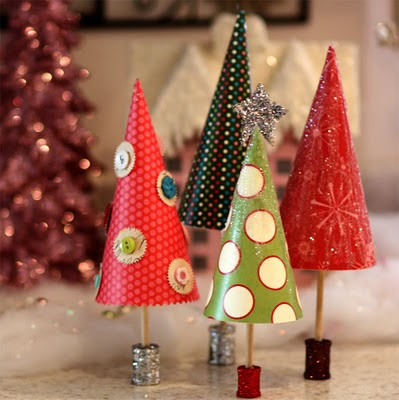 Easy Paper Christmas Trees