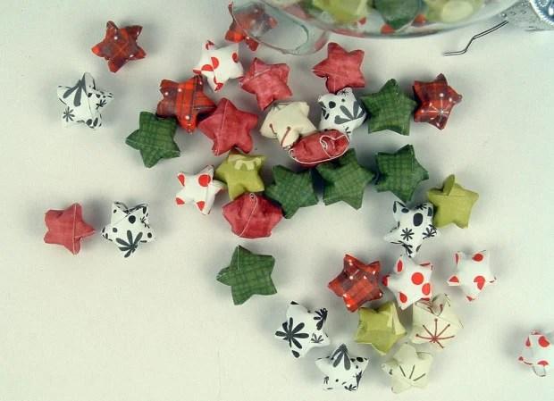 Folded Paper Lucky Stars