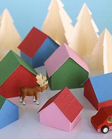 Colorful File Folder Winter Village