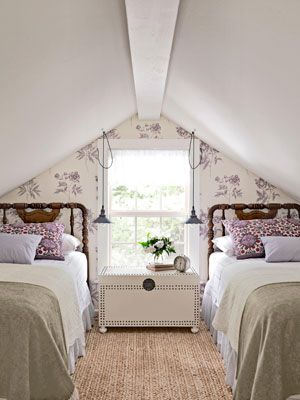 Pretty Lilac Shared Bedroom